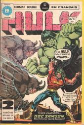 L'incroyable Hulk (Éditions Héritage) -7677- Le Rhino ne s'arrête plus ici (sic)