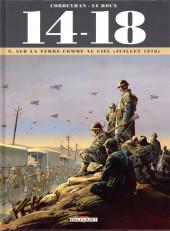 14-18 (Corbeyran/Le Roux) -9- Sur la terre comme au ciel (juillet 1918)