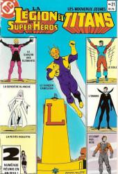 La légion des super-héros et les nouveaux jeunes Titans (Editions Héritage) -21- Les fuyards