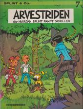 Spirou et Fantasio (en danois) (Splint & Co.) -7a78- Arvestriden