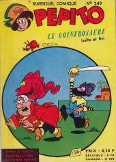 Pepito (1re Série - SAGE) -249- Le goinfrosaure (Suite et fin)