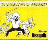 Tintin - Publicités -Nesquik- Le secret de la Licorne