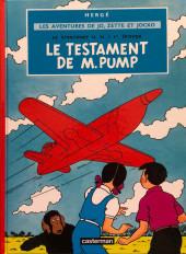 Jo, Zette et Jocko (Les Aventures de) -1e16- Le testament de M. Pump