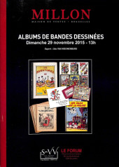 (Catalogues) Ventes aux enchères - Millon - Millon - Albums de bandes dessinées - Dimanche 29 novembre 2015 - Bruxelles