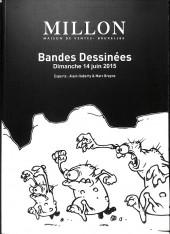 (Catalogues) Ventes aux enchères - Millon - Millon - Bandes Dessinées - Dimanche 14 juin 2015 - Bruxelles
