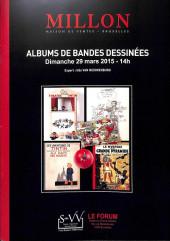 (Catalogues) Ventes aux enchères - Millon - Millon - Albums de bandes dessinées - Dimanche 29 mars 2015 - Bruxelles
