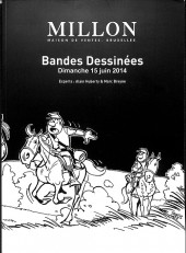(Catalogues) Ventes aux enchères - Millon - Millon - Bandes dessinées - Dimanche 15 juin 2014 - Bruxelles