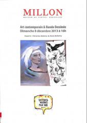 (Catalogues) Ventes aux enchères - Millon - Millon - Art contemporain & Bande Dessinée - Dimanche 8 décembre 2013 - Bruxelles