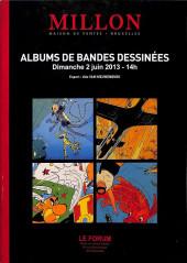 (Catalogues) Ventes aux enchères - Millon - Millon - Albums de bandes dessinées - Dimanche 21 juin 2013 - Bruxelles
