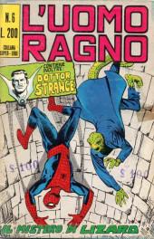 L'uomo Ragno V1 (Editoriale Corno - 1970)  -6- Il Mistero di Lizard