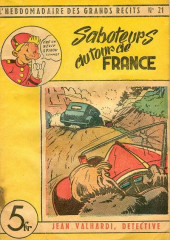 L'hebdomadaire des grands récits -21- Jean Valhardi, détective : Saboteurs au Tour de France