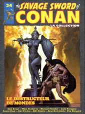 Savage Sword of Conan (The) (puis The Legend of Conan) - La Collection (Hachette) -34- Le destructeur de mondes