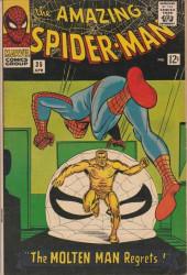 Amazing Spider-Man (The) Vol.1 (Marvel comics - 1963) -35- The Molten Man Regrets..!