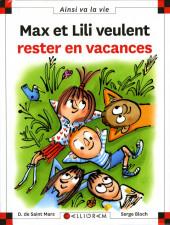Ainsi va la vie (Bloch) -118- Max et Lili veulent rester en vacances