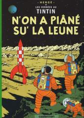 Tintin (en langues régionales) -17Sarthois- N'on a piâné su' la leune