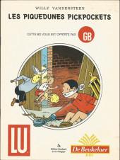 Bob et Bobette (Publicitaire) -DB2 bis- Les Piquedunes pickpockets
