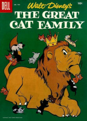 Four Color Comics (Dell - 1942) -750- Walt Disney's The Great Cat Family
