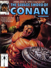 Savage Sword of Conan The Barbarian (The) (1974) -200- The Most Off-Beat Conan Story Ever: Barbarians of the Border!