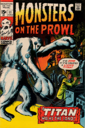 Monsters on the prowl (Marvel comics - 1971) -11- A Titan Walks the Land!