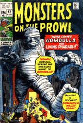 Monsters on the prowl (Marvel comics - 1971) -12- Here Comes Gomdulla the Living Pharaoh!