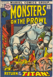 Monsters on the prowl (Marvel comics - 1971) -14- Return of the Titan!