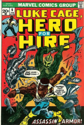 Couverture de Luke Cage, Hero for Hire (Marvel - 1972) -6- Assassin in Armor!