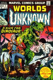Worlds Unknown (Marvel - 1973) -2- A Gun for Dinosaur!