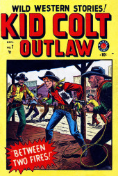 Kid Colt Outlaw (Marvel - 1948) -7- Between Two Fires!