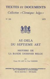 (DOC) Études et essais divers - Au-delà du septième art - Histoire de la bande dessinée belge / Le Dessin animé en Belgique