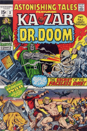Astonishing tales Vol.1 (Marvel - 1970) -3- The Secret of the Faceless One! / Ka-Zar Finds... War in the Savage Land!