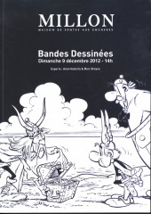 (Catalogues) Ventes aux enchères - Millon - Millon - Bande Dessinées - Dimanche 9 décembre 2012