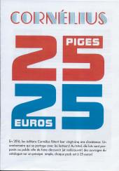 (Catalogues) Éditeurs, agences, festivals, fabricants de para-BD... - Cornélius - 2016 - 25 piges, 25 euros
