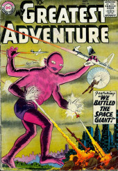 My greatest adventure Vol.1 (DC comics - 1955) -24- We Battled the Space Giant!
