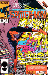 Web of Spider-Man Vol. 1 (Marvel Comics - 1985) -6- Gold Rush
