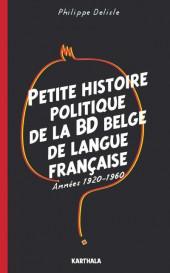(DOC) Études et essais divers - Petite histoire politique de la bd belge de langue française, années 1920-1960