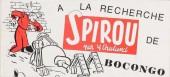 Spirou et Fantasio -2- (Divers) -Pir- A la recherche de Bocongo