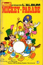 Mickey Parade -2REC01- 2e série - Album n°1 (n°62, 63 et 64)