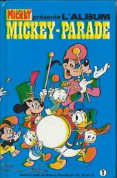 Mickey Parade -3REC01- 3e série - Album n°1 (n°68, 69 et 70)