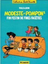 Modeste et Pompon (Walli) -1- Fin festin de fines facéties