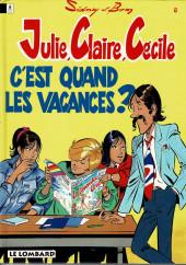 Julie, Claire, Cécile -6c1993- C'est quand les vacances ?
