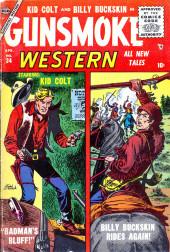Gunsmoke Western (Atlas Comics - 1957) -34- Bad Man's Bluff!/Billy Buckskin Rides Again!