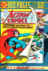 Action Comics (DC Comics - 1938) -443- Superman Unleashes the World's Greatest Action Heroes!