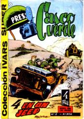 Casco verde -6- 4 en un Jeep