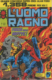 L'uomo Ragno V1 (Editoriale Corno - 1970)  -278- Fuochi nella Notte