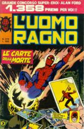 L'uomo Ragno V1 (Editoriale Corno - 1970)  -279- Le Carte della Morte