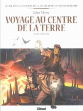 Les grands Classiques de la littérature en bande dessinée (Glénat/Le Monde) -5a2021- Voyage au centre de la Terre