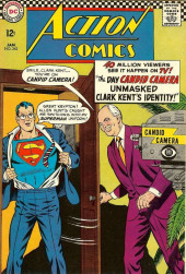 Action Comics (DC Comics - 1938) -345- The Day Candid Camera Unmasked Clark Kent's Identity!