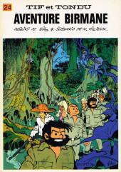 Tif et Tondu -24- Aventure birmane