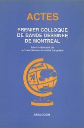 (DOC) Études et essais divers - Premier colloque de bande dessinée de Montréal
