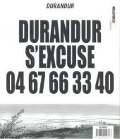 Durandur encule tout le monde -2- Durandur s'excuse - 04 67 66 33 40